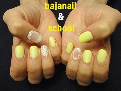 黄色がかわいい春のジェルネイルデザイン