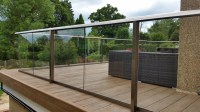 Glass balustrade decking | Composite Decking | Glass ...