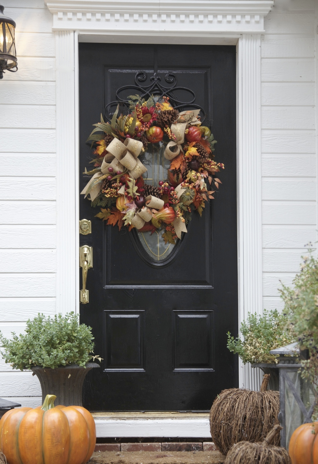 Decorating Your Front Door for Fall  Balsam Hill Blog