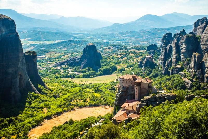 Green Mountainous views along the trip from Greece to Croatia