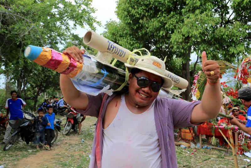 """Rocket Festival """"Boun Bang Fai"""" in Vientiane, Laos"""