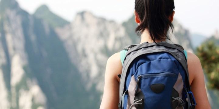 mountain travelling girl