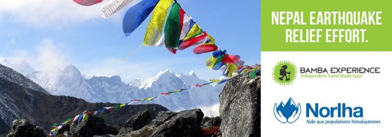 Nepal Earthquake relief effort Fundacion flyer