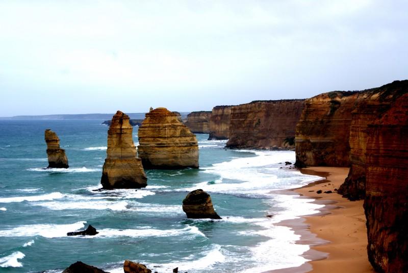 Great Ocean Road; Autralia, Oceania. cliffs and sea