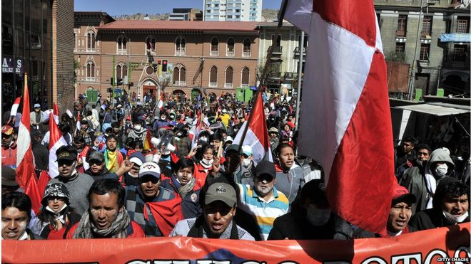 Bolivia Roadblocks: Protesters Cut Access to Potosi