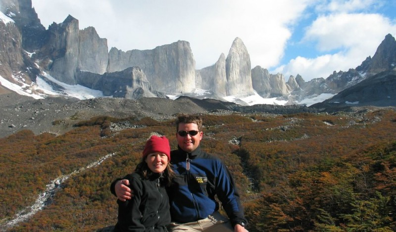 A couple on the Torres Del Paine W trek
