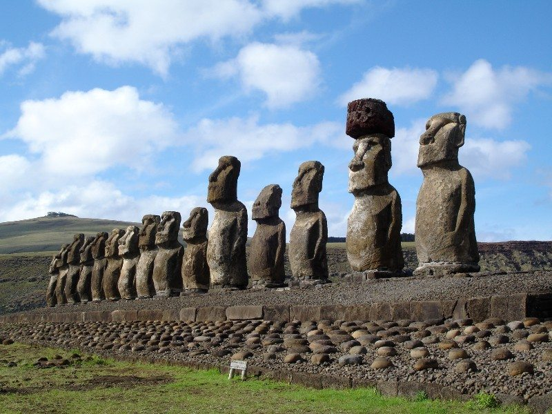 Moais on Easter Island