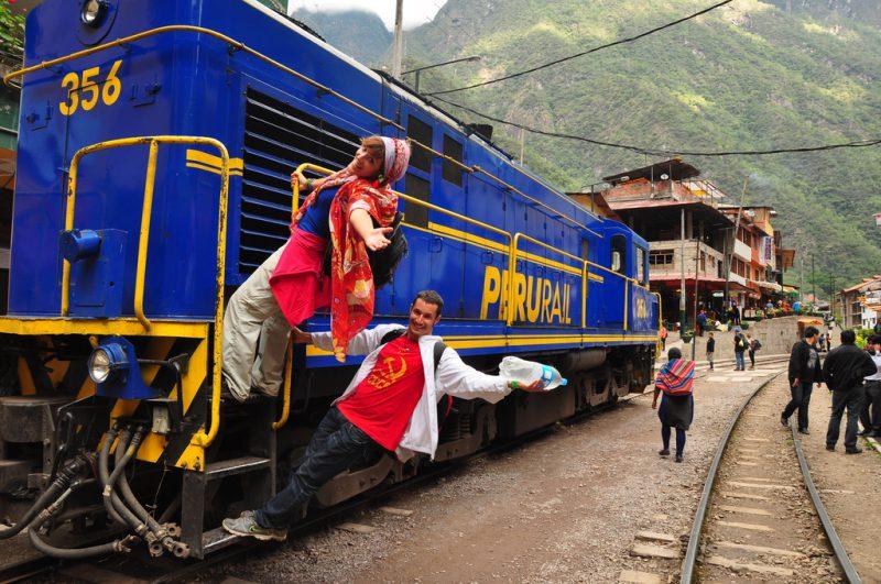 Catch the train to the famous Inca Ruins of Machu Picchu- Peru