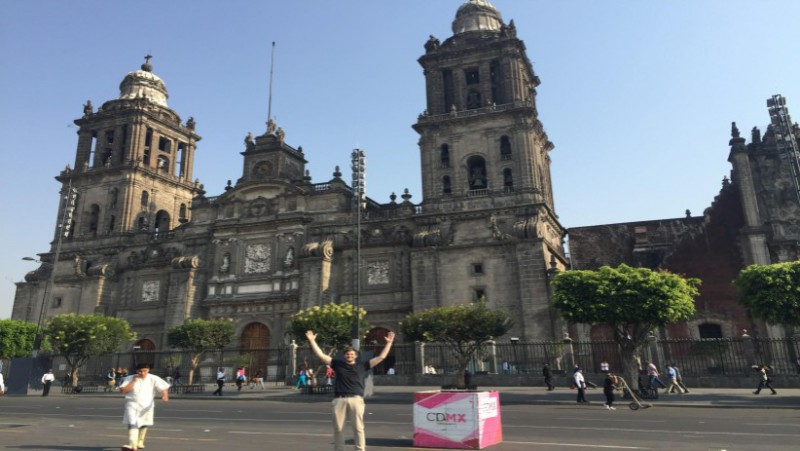 view of the Mexico City's Catedral with James Ashquith
