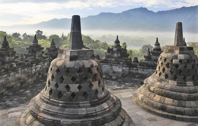 The Borobudur Indonesia ancient ruins in Asia