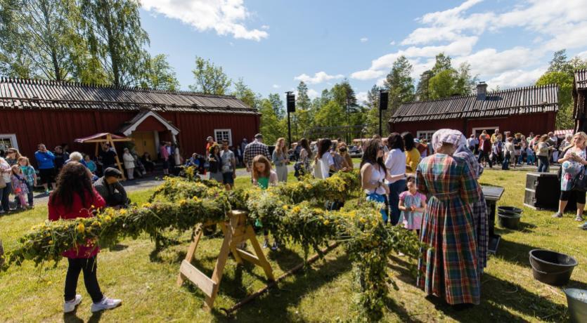 Celebrating the summer solstice in Sweden