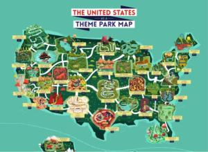 Outdoors Adventure: A Theme Park Map of the USA