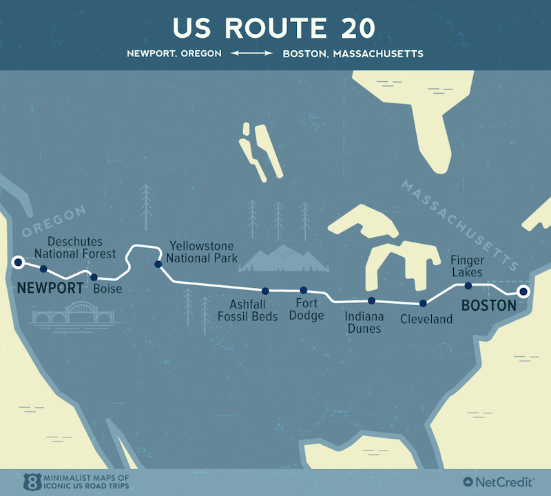 US Route 20- Epic American Road Trips