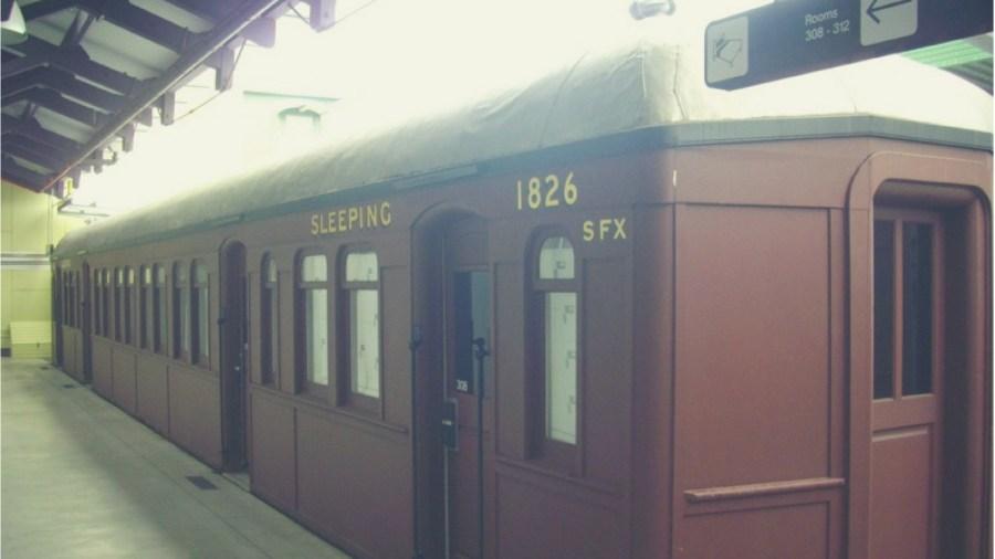 Sleeping Carriages at the Railway YHA Hostel in Sydney, Australia