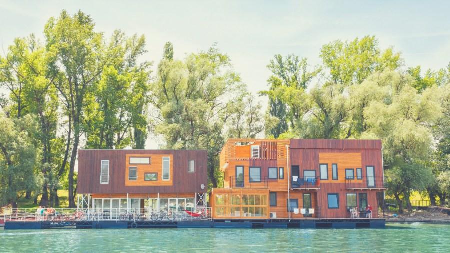 Stunning floating ArkaBarka hostel in Serbia