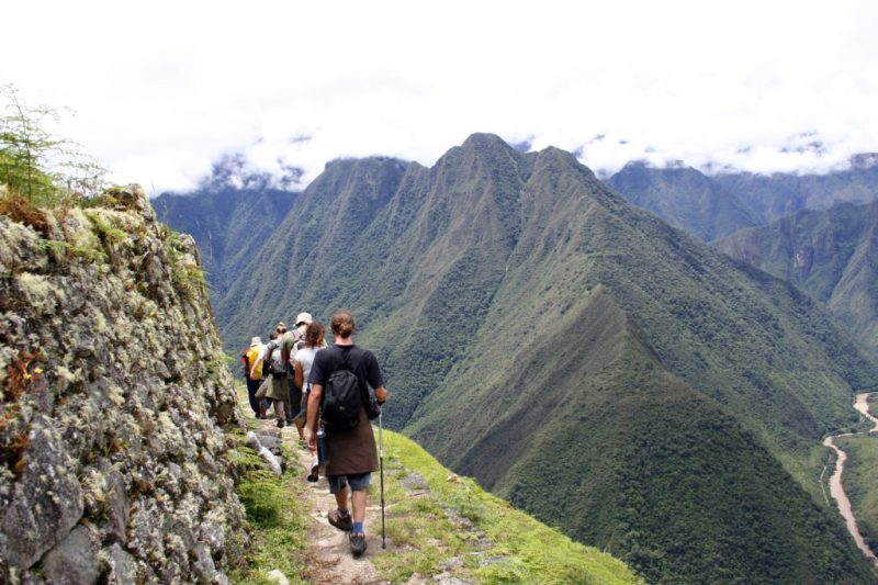 People trekking the Inca Trek in Peru