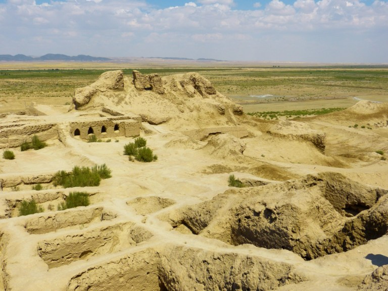 Ancient wadi steppe ruins in Uzbekistan