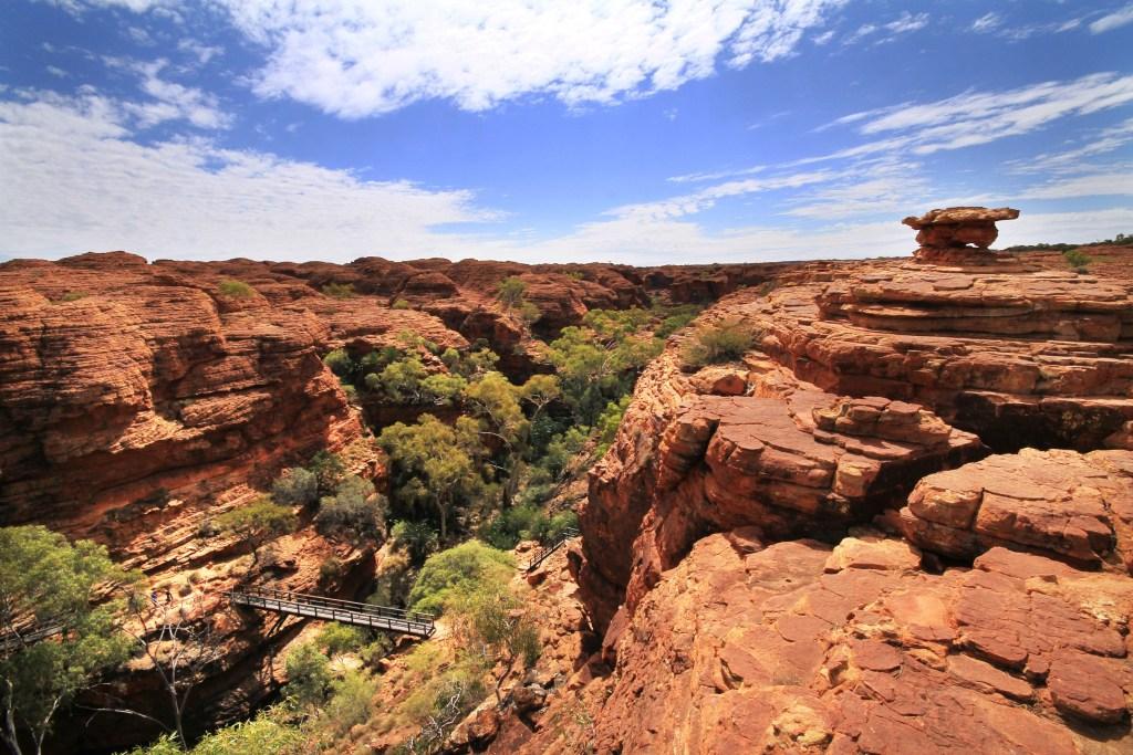 Bridge crossing at Kings Canyon NT, Australia
