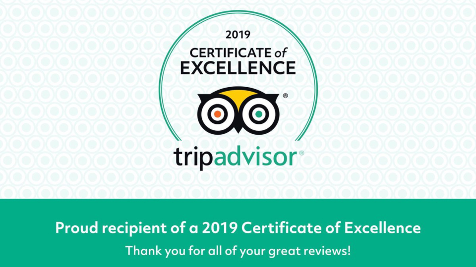 bamba's TripAdvisor Certificate of Excellence