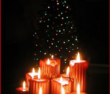 Nochebuena a la luz de las velas