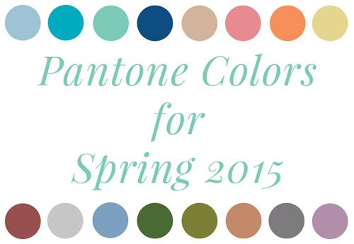 ¡El Top 10 de colores Pantone para la primavera de 2015!