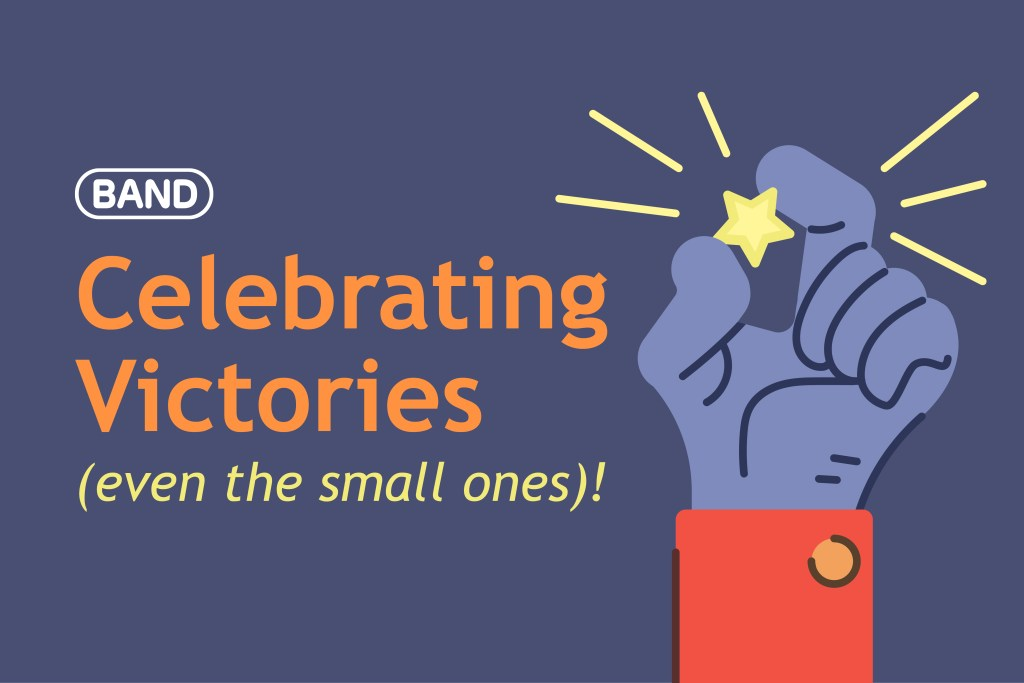 celebrate victories on BAND