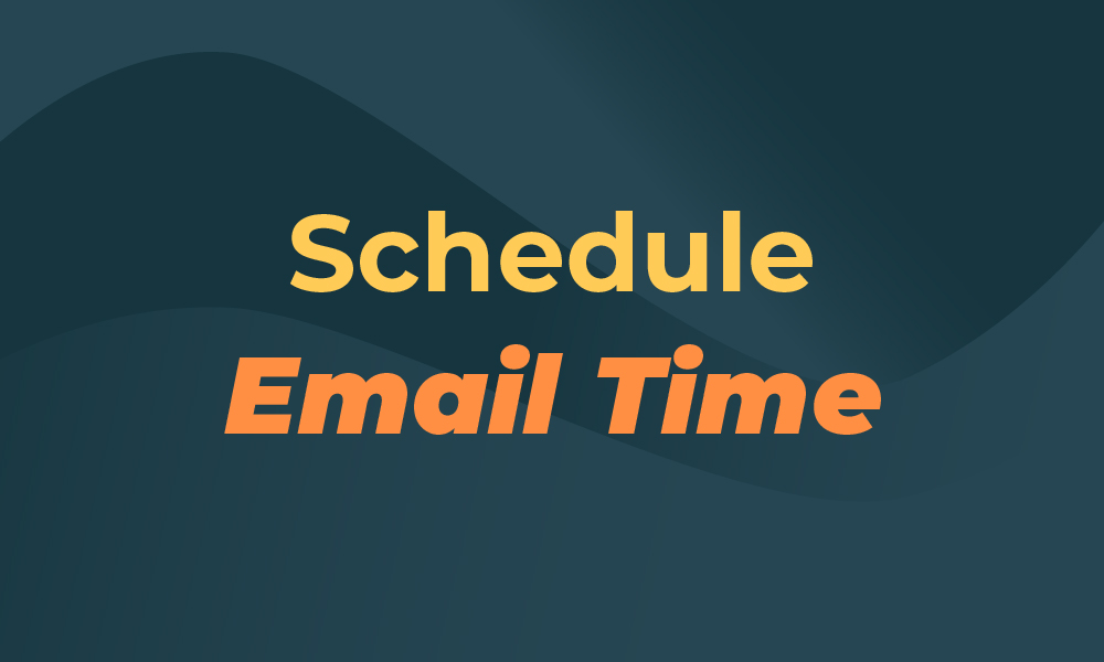 schedule email time for productivity