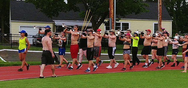 Marching practice