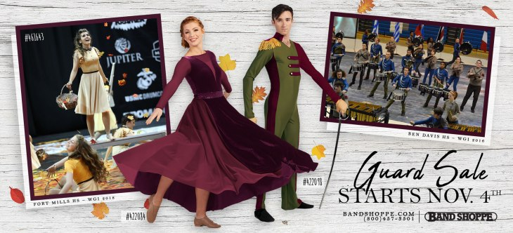 Band Shoppe's Fall Color Guard Sales starts November 4th
