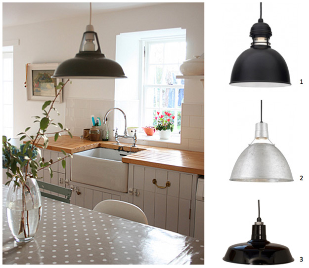 Warehouse Kitchen Pendants Inspired By Country Farmhouse