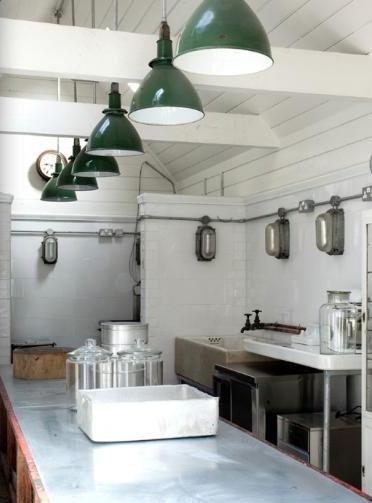 Vintage Barn Pendants Shine In Industrial Style Kitchen Blog