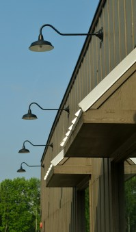 Gooseneck Warehouse Shades Ring Restaurant with Style
