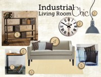 Industrial Chic Living Room Style Board & Inspiration