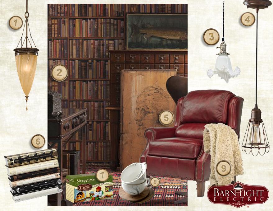 Style Me Sunday Cozy Reading Room  Blog  BarnLightElectriccom
