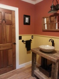 Barn Wall Sconce Adds a Touch of Country to Bathroom ...