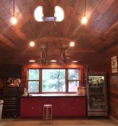 classic gooseneck barn lights give new space u0027old garage u0027 feelclassic gooseneck barn lights [ 1280 x 960 Pixel ]