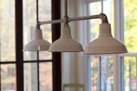 Barn Wall Sconces, Chandelier Add to Fresh Farmhouse Feel