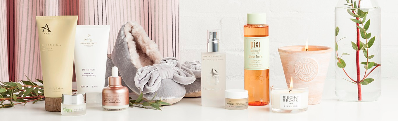 Relax and get a good night's sleep with Arran: Sense of Scotland, Aromatherapy Associates, Elemental Herbology,, Ruby + Ed, Omorovicza, NUXE, Pixi, Birch & Brook and St Eval Candle