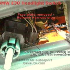 E30 Headlight Switch Wiring Diagram Goldwing Gl1800 Bmw Removal Diy – 325i And Others | Bavarian Autosport Blog