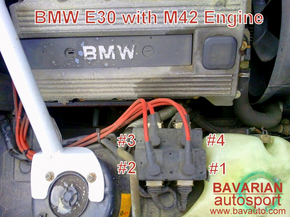 medium resolution of bmw 318i m42 coil pack spark plug wire and firing order 318is coil on plug tester