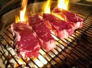 bistecche sulla griglia