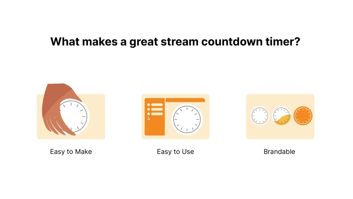What makes a great stream countdown timer