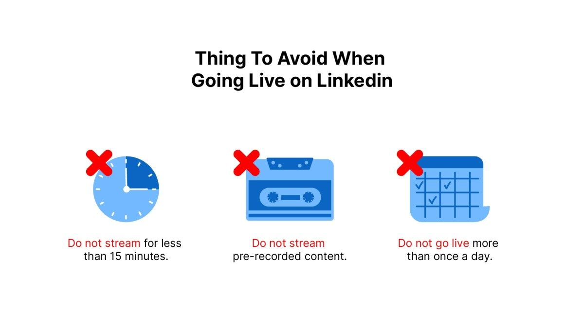 LinkedIn Live Guide: Things to Avoid