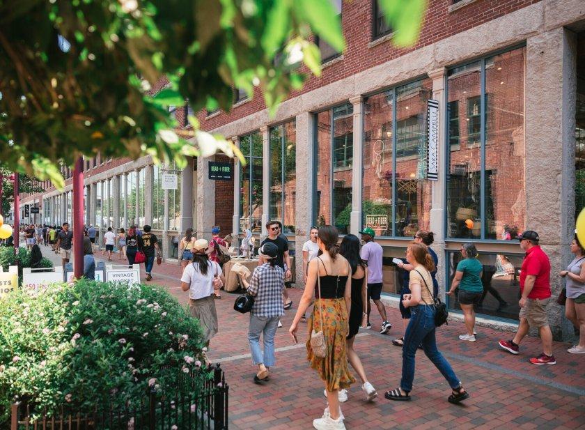 Thayer Street in Boston's SoWa neighborhood