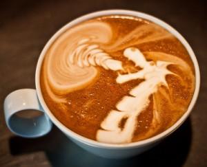 dragon latte art