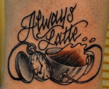 always latte tattoo