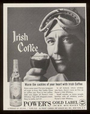 Vintage Irish Coffee Advertisement - Irish coffee recipe and the buena vista