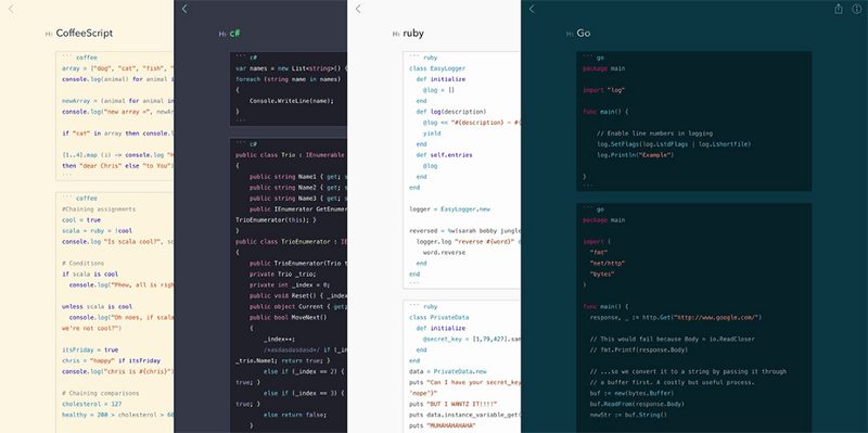 Bear Tips: Syntax highlight over 20 code languages