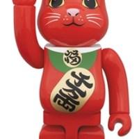 招き猫 赤 400% ベアブリック(BE@RBRICK)[情報]
