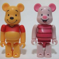 Winnie the Pooh & Piglet 2pc ベアブリック(BE@RBRICK)